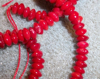 4x2mm 5x3mm bamboo coral ,16 inch strand