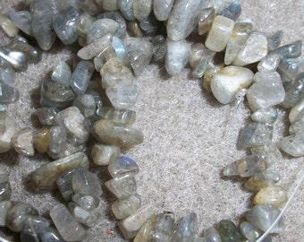 labradorite (natural), small chip, 16inch strand