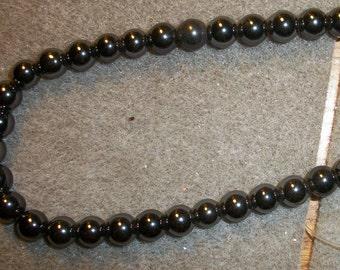 4mm round Hemalyke. 16-inch strand