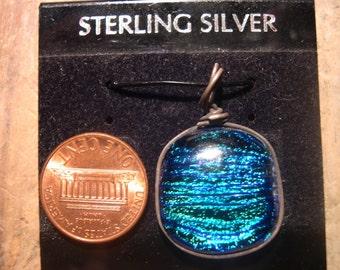 turquoise dichroic pendant712