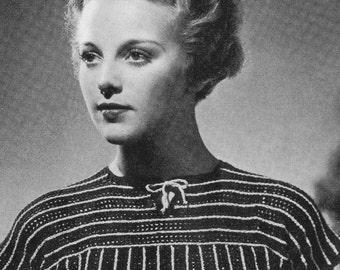 PDF of Minervas Continental Three Piece Suit Vintage Knitting Pattern, c. 1934
