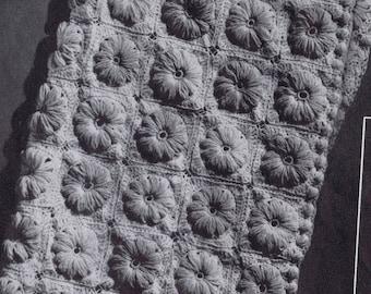 PDF Crocheted Baby Blanket Field of Flowers Vintage Crochet Pattern, c. 1942
