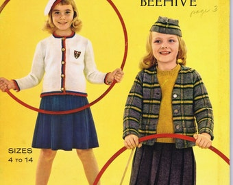 Vintage Knitting Book by  Columbia Minerva- Children's Fashion World c. 1950s