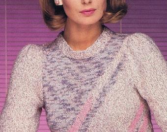 Original Vintage Knitting Leaflets by Berroco, 1980s Women's Sweaters