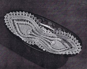 Bread Tray Doily Vintage Crochet Pattern PDF, c. 1946
