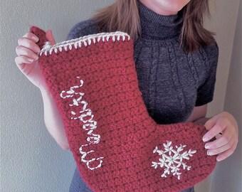 Christmas Stocking Crochet Pattern PDF
