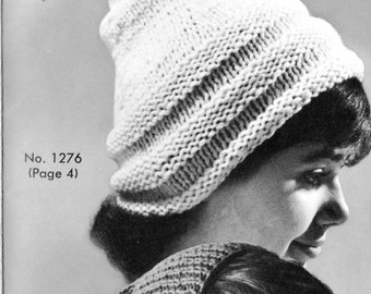 1960s Hat Patterns- 3 for the price of 1  Vintage Knitting Pattern PDF