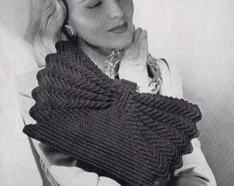 Bow-Tie Crochet Purse Vintage Crochet Pattern PDF, c 1944