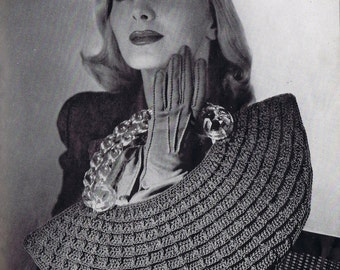 Half-Moon Crochet Purse Vintage Crochet Pattern PDF, c 1944