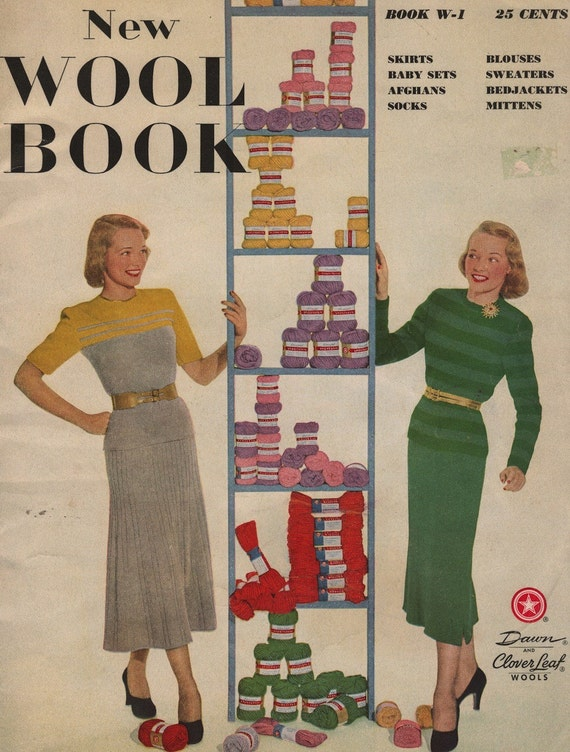 Vintage Knitting EBook: The New Wool Book, c. 1948