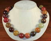 Multicolor Jade necklace