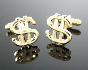 Gold Dollar Mark Cufflinks