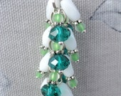 Emeral Green and Opal Cluster Key chain / Purse Jewelry  (K52)