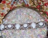 White Wash Cabachon Bracelet