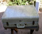 Vintage Samsonite Luggage Suitcase Marbleized Ivory Cream Retro Cool Travel