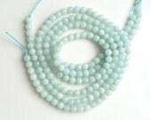 4 mm Amazonite beads, round   FULL STRAND