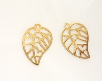Vermeil Leaf  Findins  (19x13mm), 2 PIECES