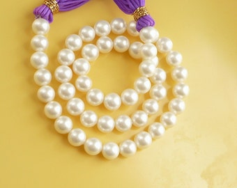 8mm  White , round shell pearls, shell base pearls