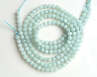 4 mm Amazonite beads, round   FULL STRAND