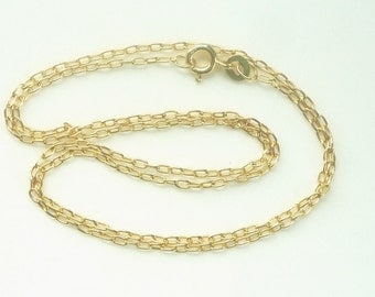 24  inches Vermeil  oval link chain, long cable chain, finished cable chain, finished necklace