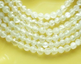 Full strand phrenite   faceted  round beads (4.5mm)