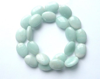 Amazonite bead ,oval smooth (13x18mm) FULL STRAND