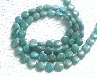 Impression jasper coin beads, 12mm   FULL STRAND