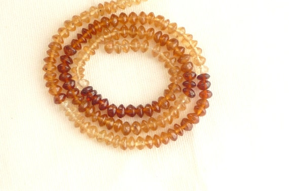 15 inches Hessonite smooth rondelles (4.5mm)
