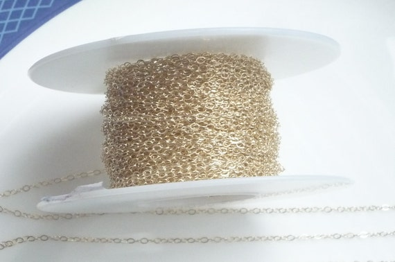 3FT  (2x1.5mm) 14K Gold Filled chain, cable