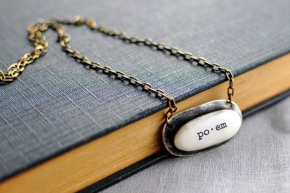 Poem . Words . Necklace . by Mad Tea Garden
