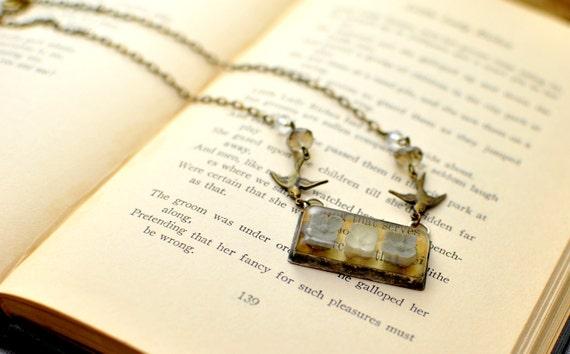 The Swallow's Garden . Garden Necklace . by Mad Tea Garden