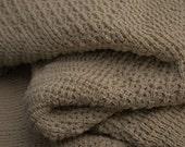 "Knitted Afghan/Throw, Blanket, ""Toffee"""
