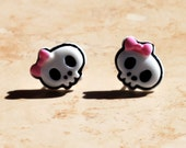 The ORIGINAL Pink Punk Skull Earrings - Hypoallergenic - Baby, Toddler, and Adult Earrings