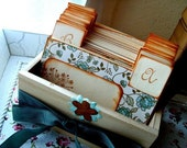Rustic Wedding Wish Guest Box, Address File Box, Recipe Box - (No. 029)