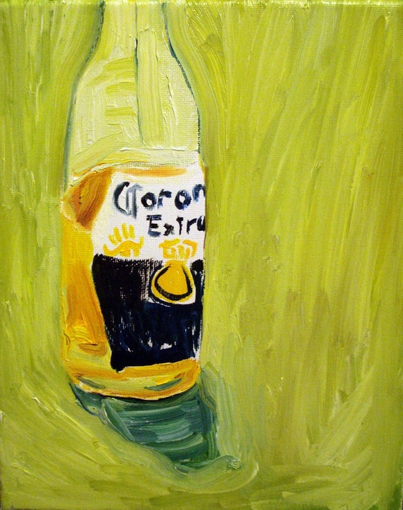 Corona, 8x10 oil painting