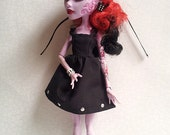 Black Studded Party Dress for Monster High Doll