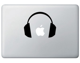 Ear DJ Headphones- Mac Laptop Notebook Decal Sticker Skin Cover  -  Music Animal
