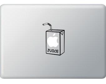 Apple Juice for Apple Macbook,IPad,Laptops Vinyl Decal Stickers