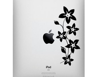 Buy 2 get 1 Free - Blooms Flowers Vinyl Decal for IPad ,Tablet Stickers Decals Apple Macbook ,Floral