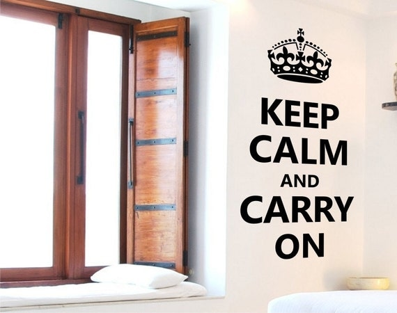 Keep Calm and Carry On Wall Decal  Vinyl Wall Art by Elly Studio
