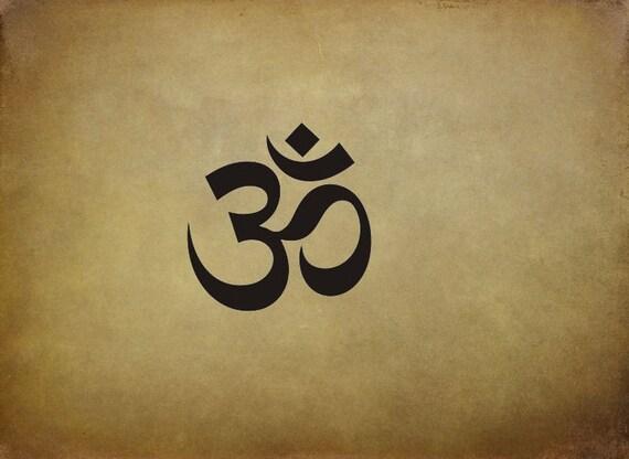 OM-Symbol Vinyl Wall Decal Sticker Buddha,Hindu by Ellys Studios
