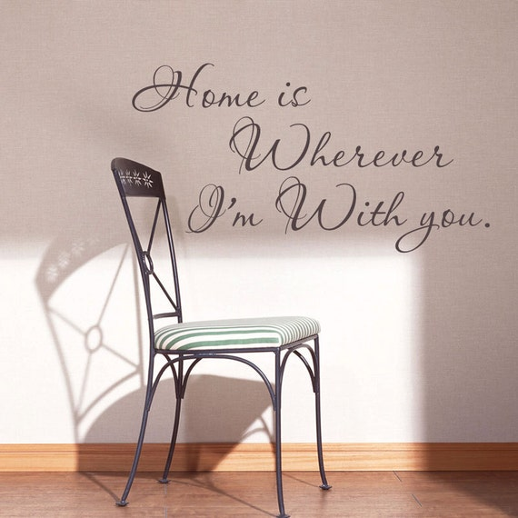 Items Similar To Famous Quotes Home Is Wherever I'm With