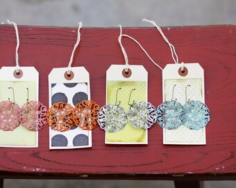 MARCELLA - Round Filigree Lightweight Dangle Earrings - CHOOSE Your Color- Great gift, Bridesmaid Gift, Family Pictures