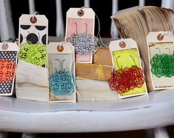 EDNA- Large Filigree Earrings - CHOOSE Your Own Color - Great For Teacher Gifts or Family Pictures or Stocking Stuffers