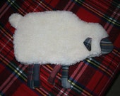 Hot water bottle cover - Sheep shape