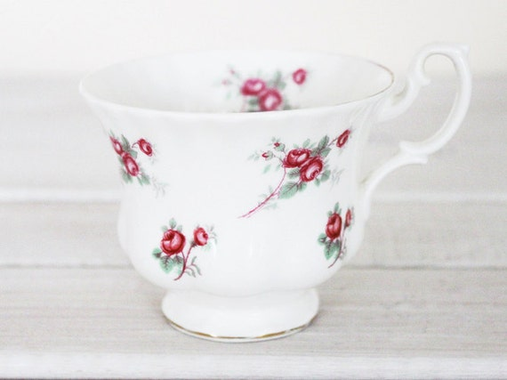 Vintage Teacup - Floral Tea Party Rose Time Pink Green White England Richmond