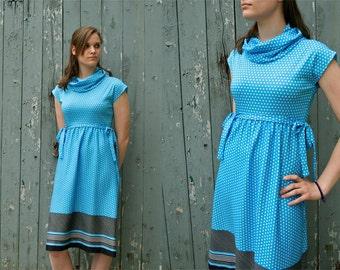 60s Polka Dot Day Dress Size M