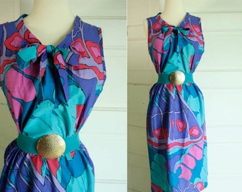 Abstract Day Dress Size M/L