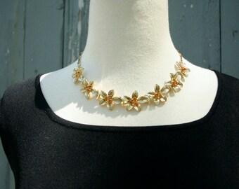 Vintage Flower Necklace, Wedding Necklace