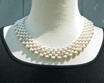 Vintage Pearl Necklace,  Wedding Necklace
